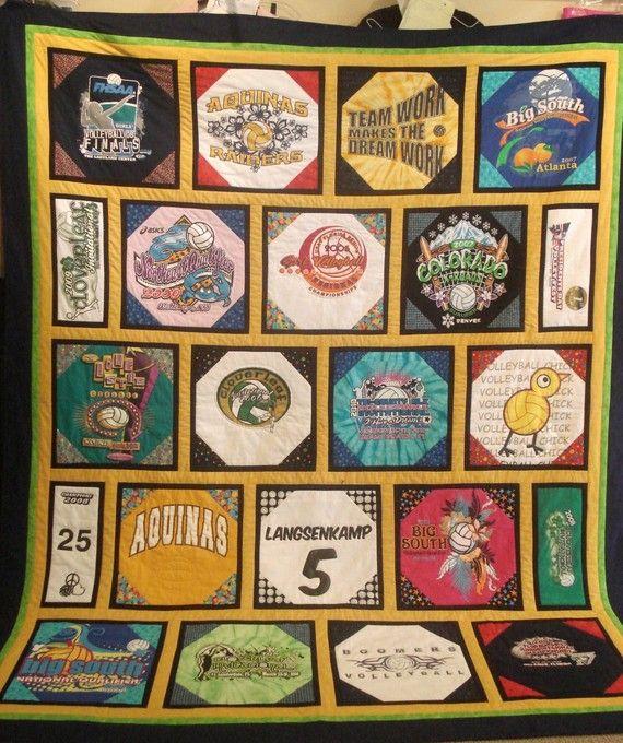 snowball block t-shirt quilt