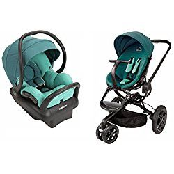 Quinny Moodd Stroller with BONUS Maxi-Cosi Mico Max 30 Infant Car Seat and Base, Green