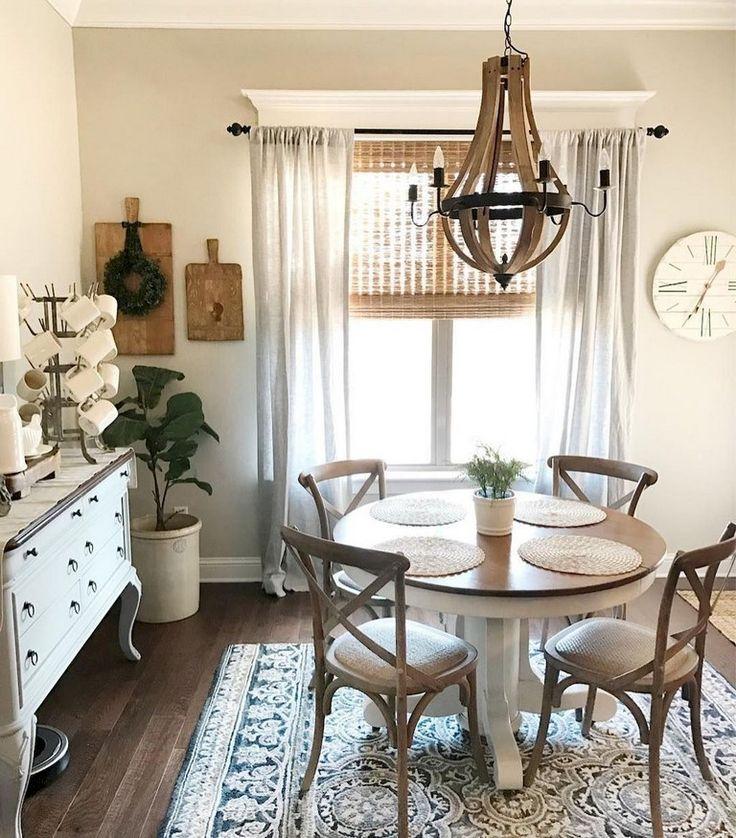 46 Popular Farmhouse Dining Room Design Ideas Trend 2019: 75+ Incredible Modern Farmhouse Dining Room Decor Ideas