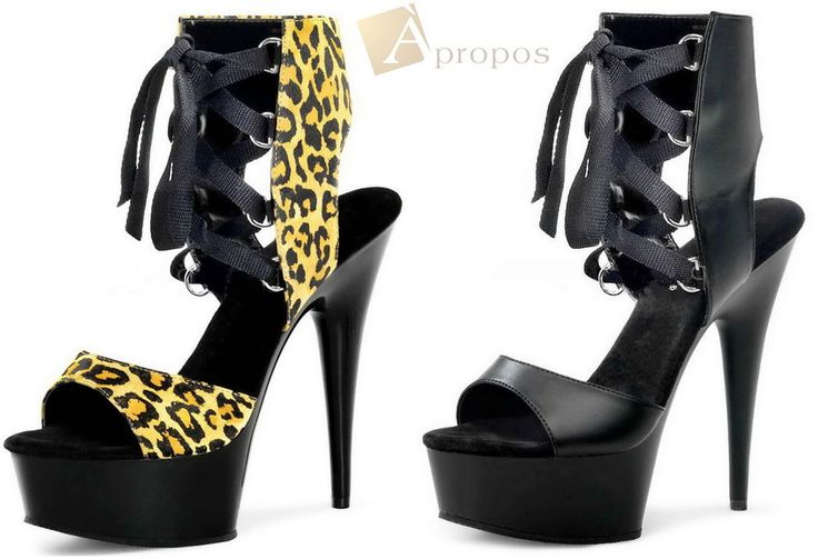 High Heel Sandale 10cm Damen Flats Elegant Leo Schwarz Schleife Apropos