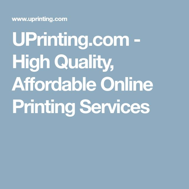 UPrinting.com - High Quality, Affordable Online Printing Services