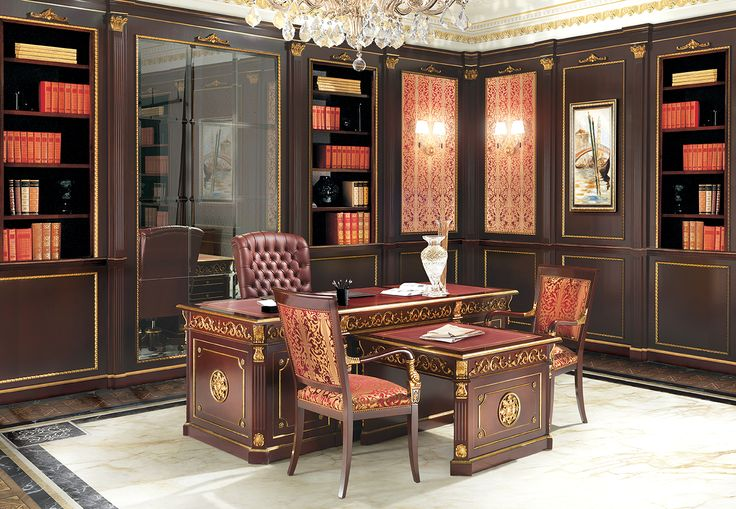 DONATELLO Presidential office with hand carved desk