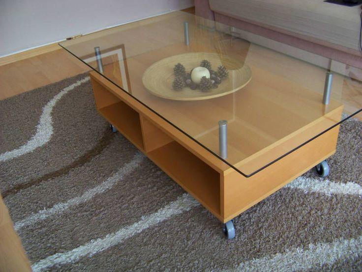 Eneryda mesa de centro madera vidrio medidas 135x75x45 for Mesas de centro bonitas