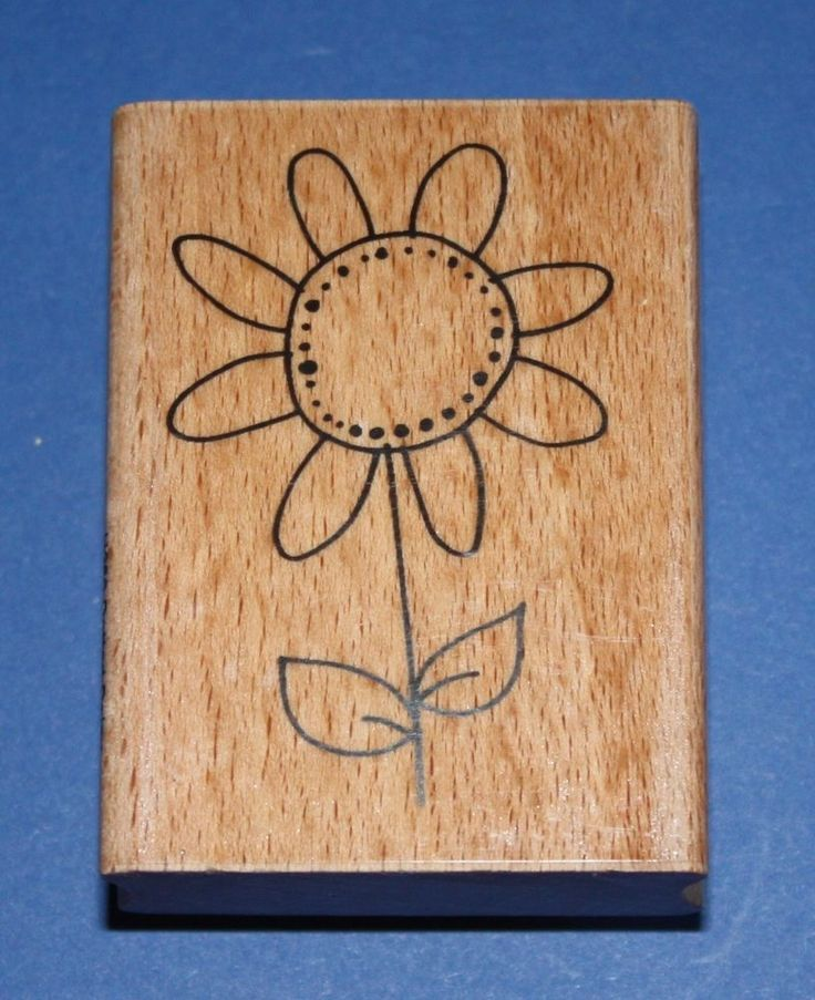 NEW Stampendous  Dotted Daisy  H250 Wooden Backed Rubber Stamp - SALE