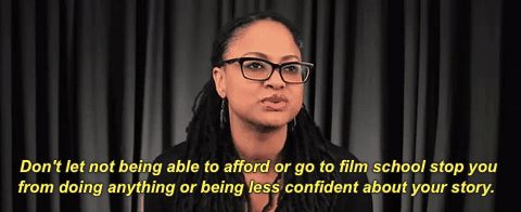 blackgirlmagic ava duvernay dont let not being able to afford or go to film school stop you from doing anything or being less c #humor #hilarious #funny #lol #rofl #lmao #memes #cute