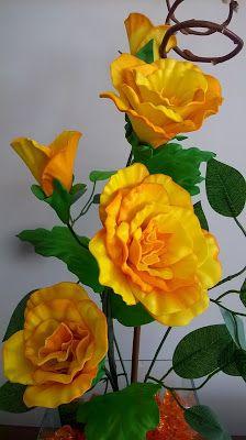 Cantinho da Arte: Arranjo de Flores de Eva- Serenata