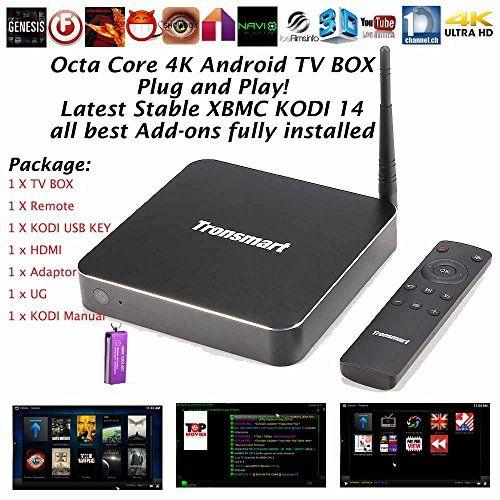 Kukele@ Tronsmart Draco Aw80 Telos XBMC Kodi Helix 14 Addons Fully Loaded Allwinner A80 Octa Core 4gb RAM 32gb ROM 3D 4k*2k 4K Blu-ray ISO Full HD Google Android 4.4 Kitkat Smart OTA TV BOX Mini PC Internet Streaming Media Player Bluetooth 802.11ac 2g/5g WIFI & Sata Hdmi Cable & XBMC Kodi Key & Kodi Instruction Review - http://koditvdevices.com/uncategorized/kukele-tronsmart-draco-aw80-telos-xbmc-kodi-helix-14-addons-fully-loaded-allwinner-a80-octa-core-4gb-ram-32gb-rom-3d-4k