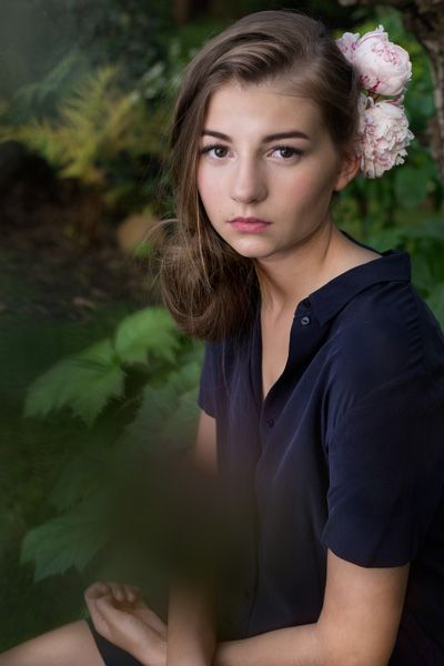 Model Tatiana from Charme de la Mode agency shot by Ola Grochowska. portrait fashion photoshoot forest
