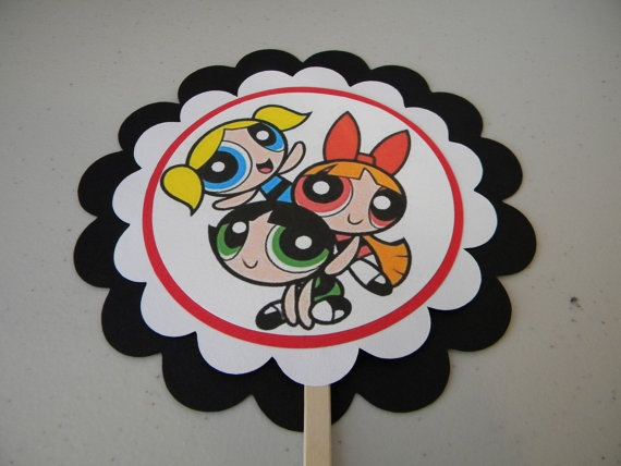 Power Puff Girls Cake Topper/ Centerpiece by CustomPaperations, $10.00