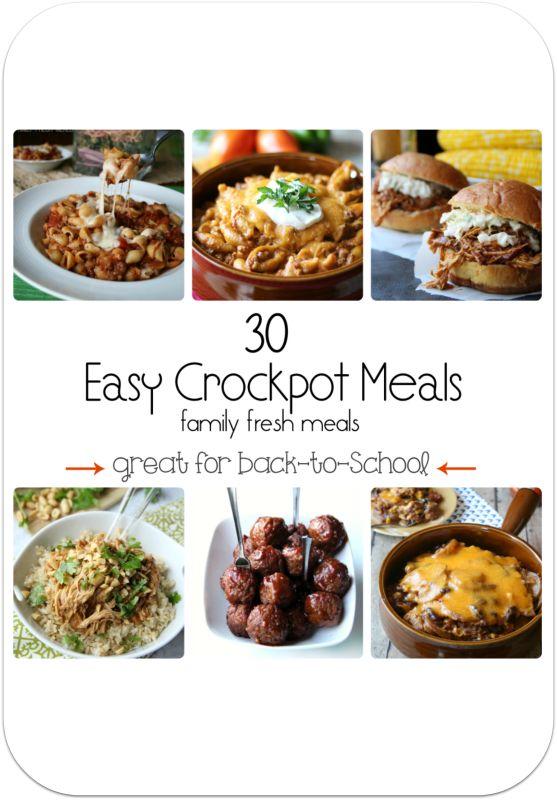 30 Easy Crockpot Recipes - Family Fresh Meals
