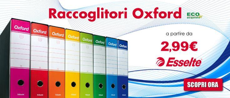 Continuano i saldi...Fino al 60% di sconto sui registratori Esselte Oxford! http://www.officemania.it