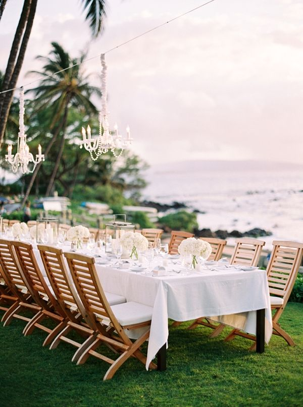 Understated glamour at a beautiful wedding reception | Destination Hawaii Wedding at Andaz Maui At Wailea from Photographs by Caileigh