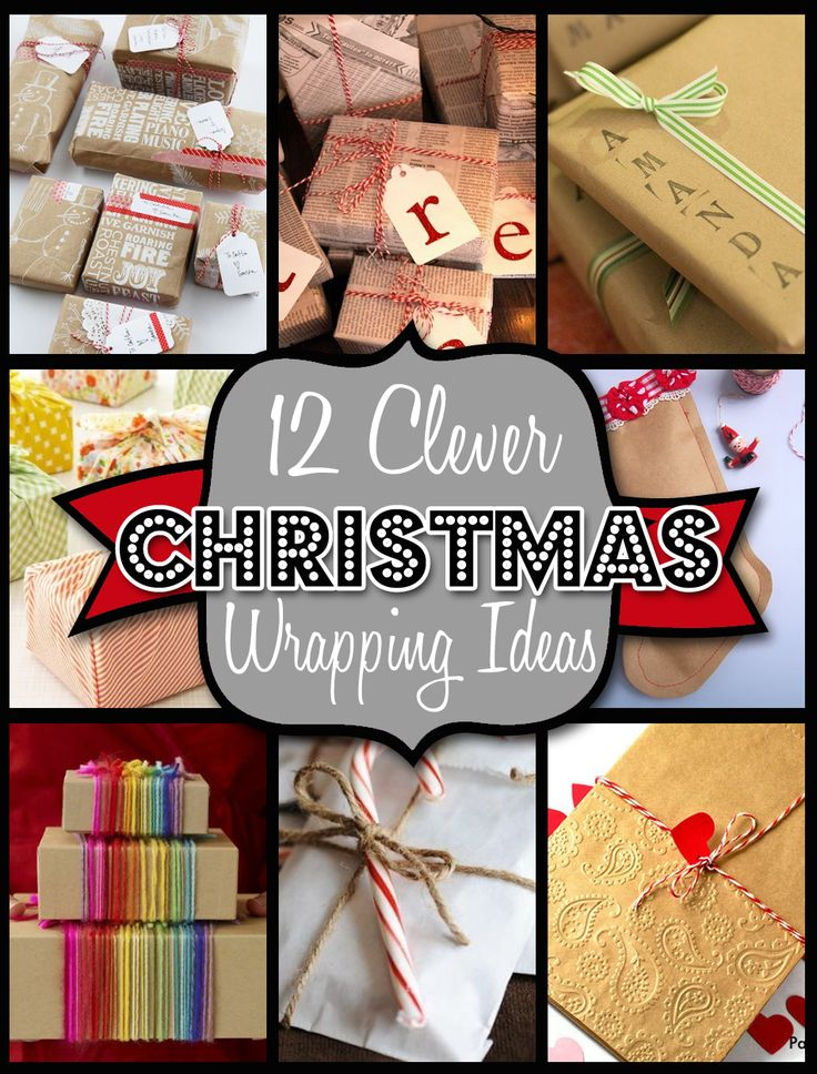 12 Clever Ways to Wrap Christmas Presents. Cute too, I like the wrapping Christmas presents in newspaper #wrappingpaper #christmaspresent #christmas