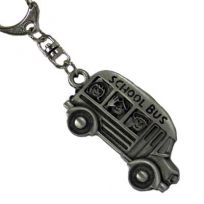 School Bus Driver Keychain - Chelsea Pewter