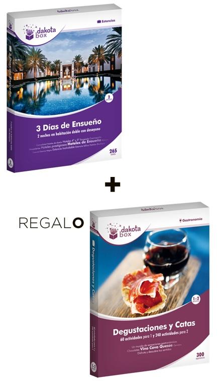 DAKOTABOX SAN VALENTÍN:ESTANCIA CON SABOR+REGALO  Especial San Valentín - Viajes y Catas   129.90€    Precio con I.V.A. Incluido  $175.84