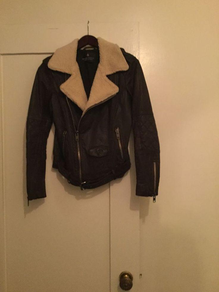 Maison Scotch / Scotch And Soda Women's Brown Leather Flight Jacket #MaisonScotch #Motorcycle