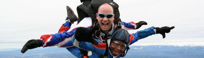 Skydive Snohomish > First Skydive > Tandem Skydiving