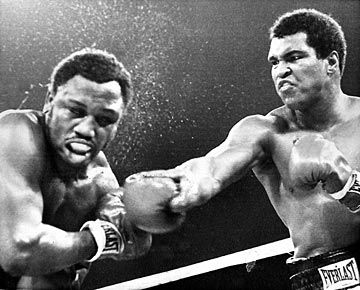 Thrilla in Manila...need we say more! The Thrilla in Manila was the third and final famous boxing match between Muhammad Ali and Joe Frazier for the Heavyweight Boxing Championship of the World, fought at the Araneta Coliseum in Quezon City, Metro Manila, Philippines on October 1, 1975.