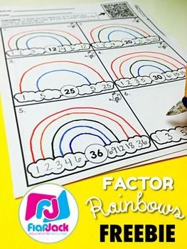 Worksheets can be fun! Students draw factor rainbows and then check their answers by scanning the QR code. Spanish version is also included.If you love this freebie, check out the Factor Rainbows Activity Bundle - so much factor fun in one resource!Also check out:4th Grade All Year Long QR Code Printables. 4TH GRADE QR CODE MATH TASK CARD MEGA BUNDLE.Find lots of QR code resources while saving big!******************************************************************************Click here to…