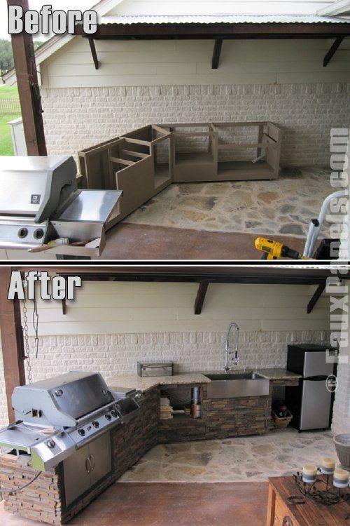 outdoor k che bilder sch ne wohnr ume im freien today pin. Black Bedroom Furniture Sets. Home Design Ideas