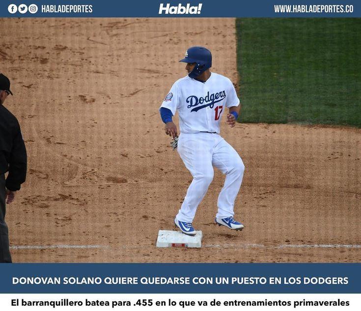 Más de una docena de colombianos se encuentran participando en los entrenamientos primaverales de las Grandes Ligas algunos con puesto seguros y otros tratando de ganárselo como es el caso del barranquillero Donovan Solono quien está recibiendo la oportunidad por parte de Los Angeles Dodgers como invitado.  El infielder está aprovechando esas oportunidades. Este domingo entró en la segunda base de los Dodgers en juego frente a los San Francisco Giants y se fue de 2-2 con dos carreras…