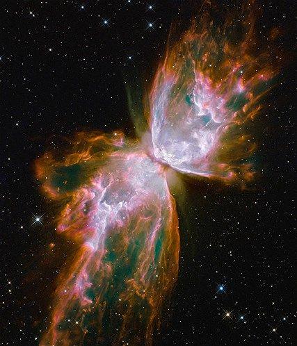 Foto's gemaakt door de Hubble-telescoop (© NASA/AP) Hemellichaam in de vorm van een vlinder