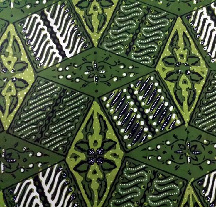 Personal collection of unique Batik Tambal Kitiran from Solo. Do you see the 3 dimensional design of this Batik?