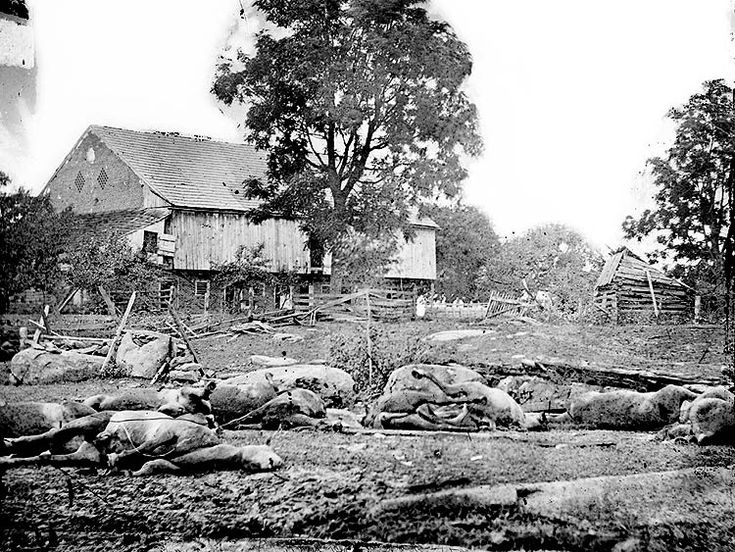 View at Trostle's barn in Gettysburg where the 9th Massachusetts Battery was attacked.