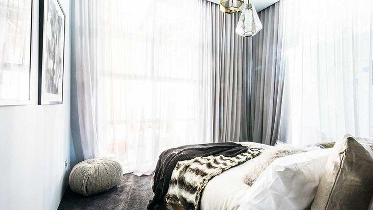 grey drapes