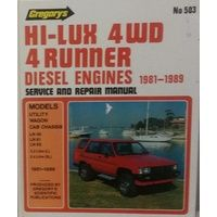 Toyota Hilux LN Series 2WD & 4WD Diesel Repair Manual 1981-1989 with MPN GR503