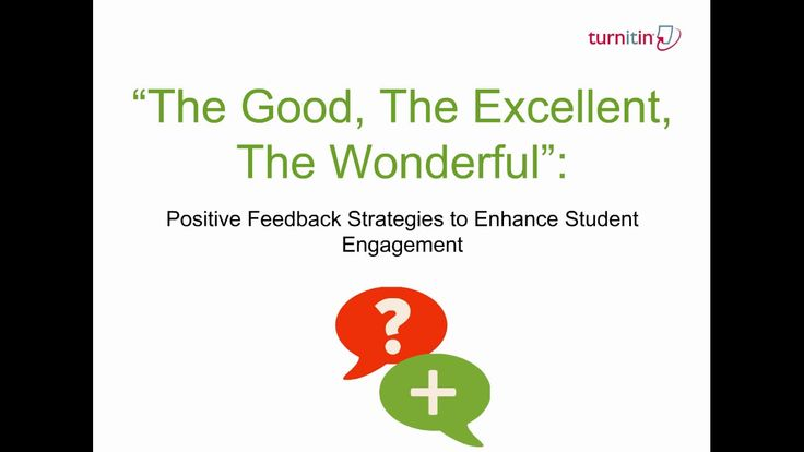 Positive Feedback Strategies to Enhance Student Engagement
