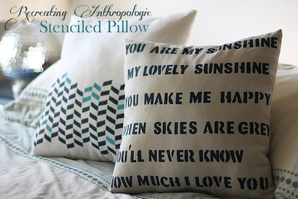 Recreating Anthropologie {Stenciled Pillow}