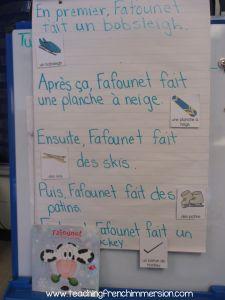 "Responding to Louise D'Aoust book ""Fafounet et la tempete de neige"" from www.teachingfrenchimmerison.com"