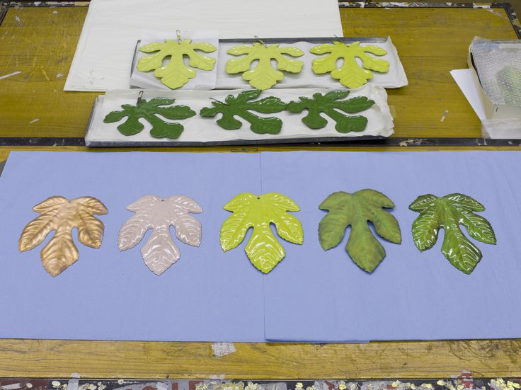 Stages Of Enameling The Fig Leafs | Meta | Tord Boontje