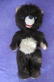 starožitný bručící kloubový medvěd 60 cm