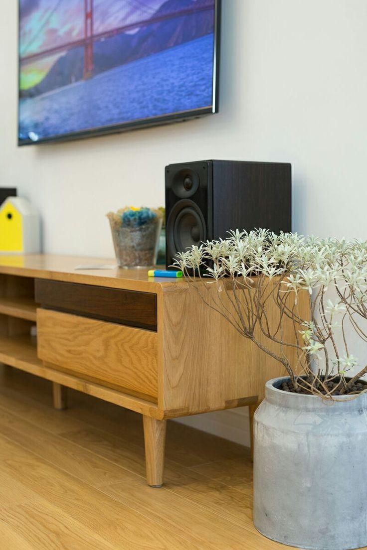 Nordic Black Walnut Solid Wood TV Cabinet Modern Minimalist Japanese Style IKEA Storage In White Oak Living Room Furniture