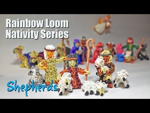 Rainbow Loom Nativity Series: SHEPHERDS  by PG's Loomacy. You Tube.