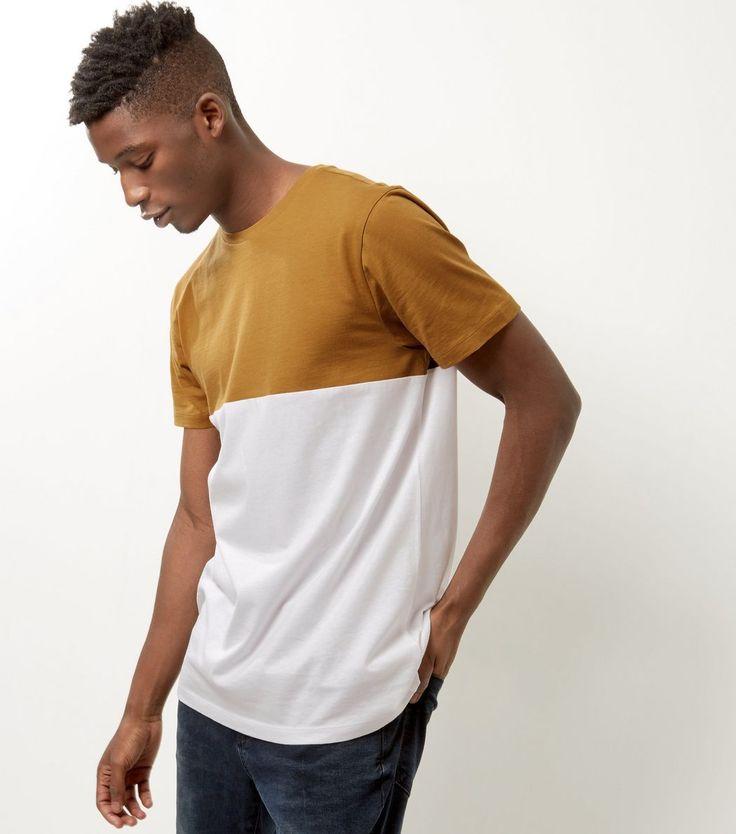 Camel Colour Block T-Shirt | New Look