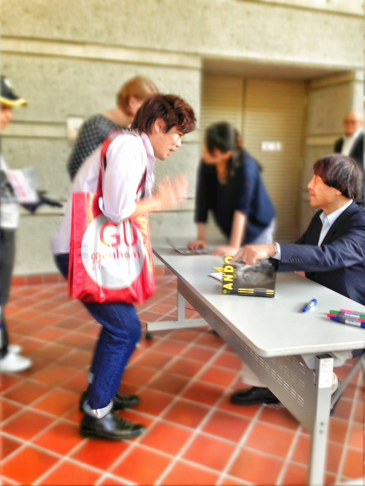 13.05.18 Me, met Tadao Ando first time :)