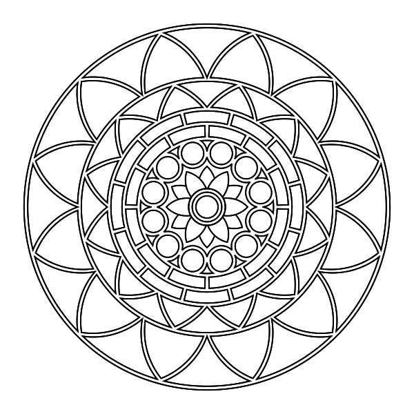 519 best Mandalas Coloring Pages images on Pinterest Coloring