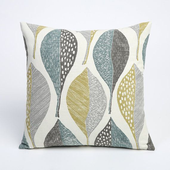 This listing is for one decorative pillow cover in the Rain Leaves Golden fabric. This fabric is part of a collection of 9. To order any of the other
