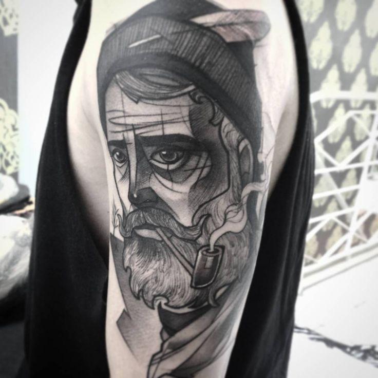 Wanderer #tattoo #redberrytattoostudio #blacktattooartists #Wanderer #man