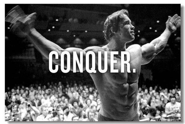 Print Painting Arnold Schwarzenegger Prints Boy Room Mr Olympia Bodybuilding Terminator -67005-YP