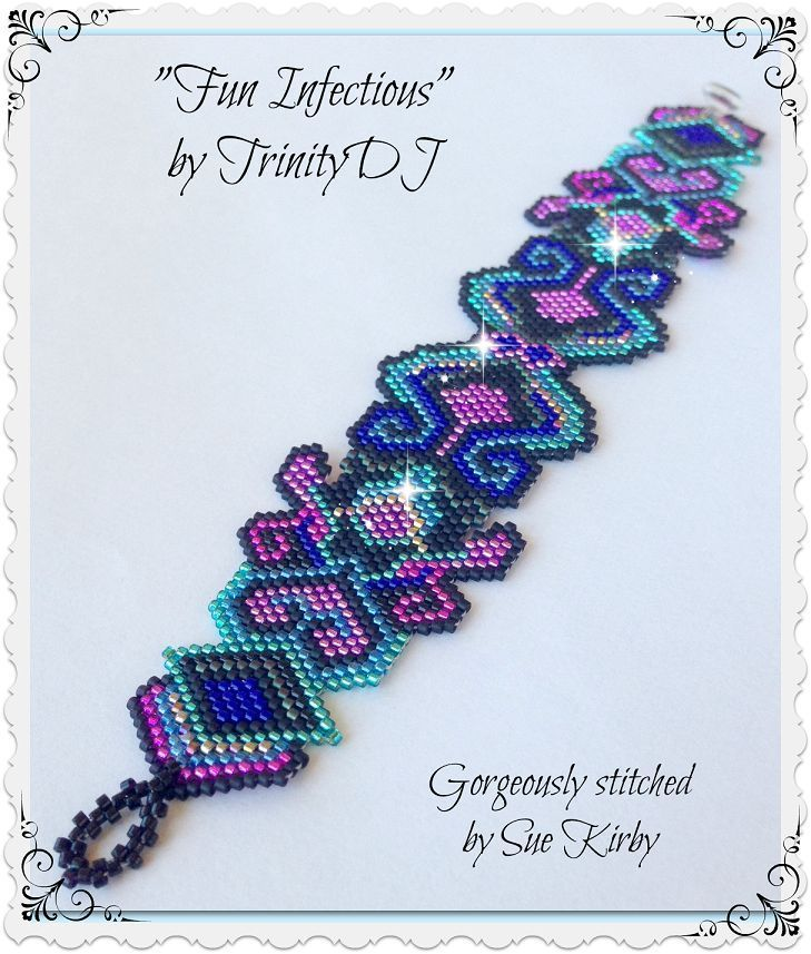 Fun Infectious Beaded Bracelet Pattern | Bead-Patterns.com