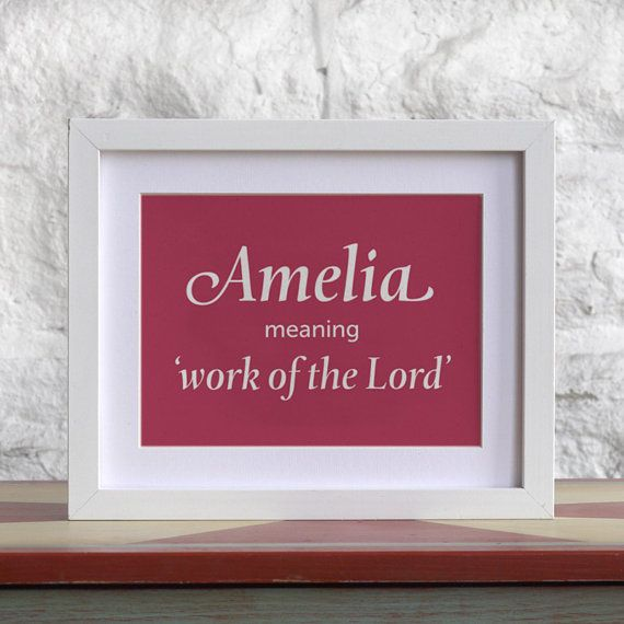 Custom Baby Name Meaning Print // Any Size // by cutiepiegreetings, £6.00