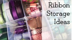 pinable image - ribbon storage