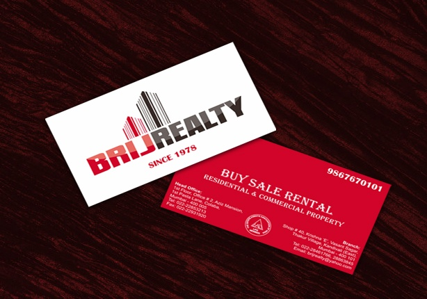 The client required to create a corporate identity for their Real Estate Business. He wanted a new logo for his business, visiting cards, banner and envelopes. Previously, their business name was Brij Estate Agency which was re-christened to Brij Realty.
