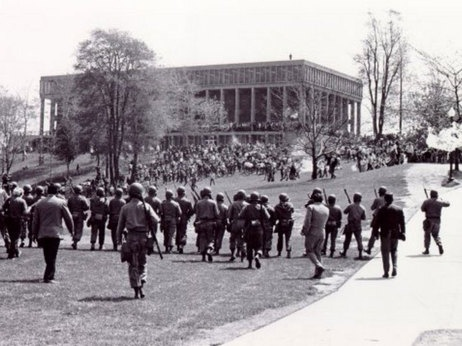 A scene from May 4, 1970, at Kent State University.