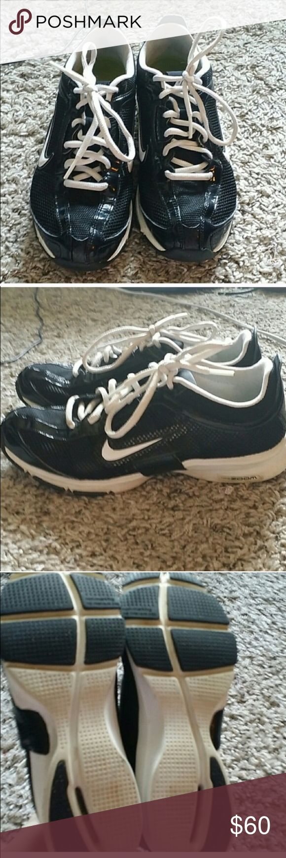Nike size 7.5 black and white sneakers Nike size 7.5 black and white sneakers Nike Shoes Sneakers
