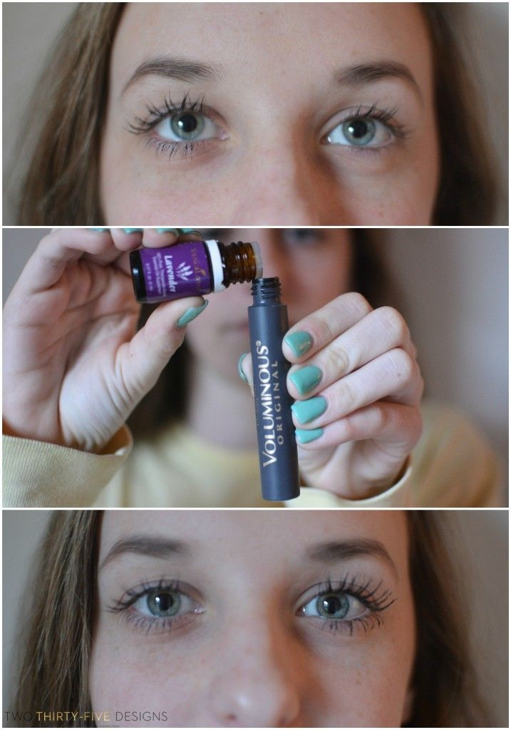 Before and After Using Lavender Oil for Fuller, Thicker Lashes by Two Thirty~Five Designs
